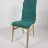 chaise pieds chene tissu vert