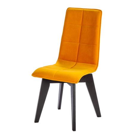 chaise-design-confort-ZAO-PIETMENT-ROTATIF-tissu-jaune-mangue-orange-lelievre