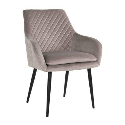 Chaise pieds métal assise tissu ou cuir au choix – Richmond Interiors – CHRISSY