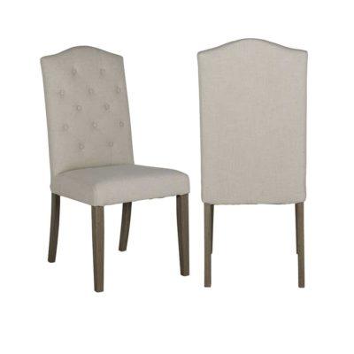 Chaise pied bois assise tissu au choix – Richmond Interiors – SYLVANA