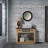 console atelier chene massif teintes bois et gris
