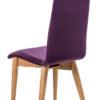 dos chaise tissu violet pieds chene