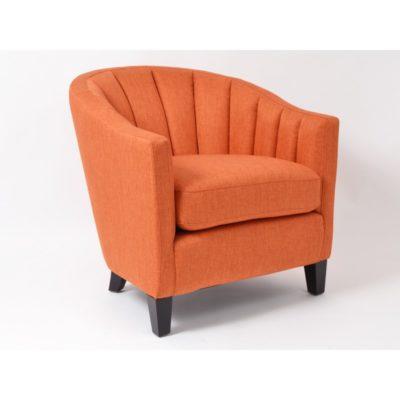 fauteuil tissu orange