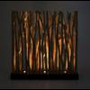 luminaire original bois cloison nature lumiere