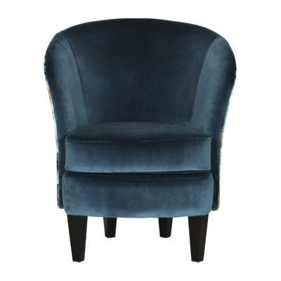 fauteuil bleu canard