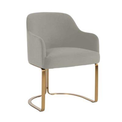 Chaise design pieds métal doré assise velours au choix – Richmond Interiors – HADLEY