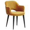 Chaise avec accoudoirs modele GIOVANNA avec tissu OCRE