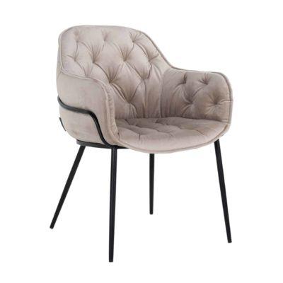 Chaise confortable en velours pieds métal – Richmond Interiors – NOMI