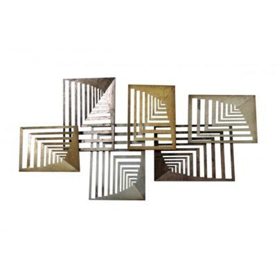 Décoration murale abstraite métal cuivré L.147cm – RECTANGLES EN PERSPECTIVE