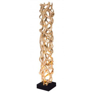 Grand lampadaire bois naturel modèle KANO par Flam&Luce